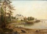 Kokkeplassen, akvarell fra 1850-årene HH