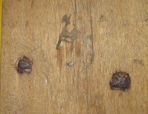 Gjestgiveriet - detalj på veggen