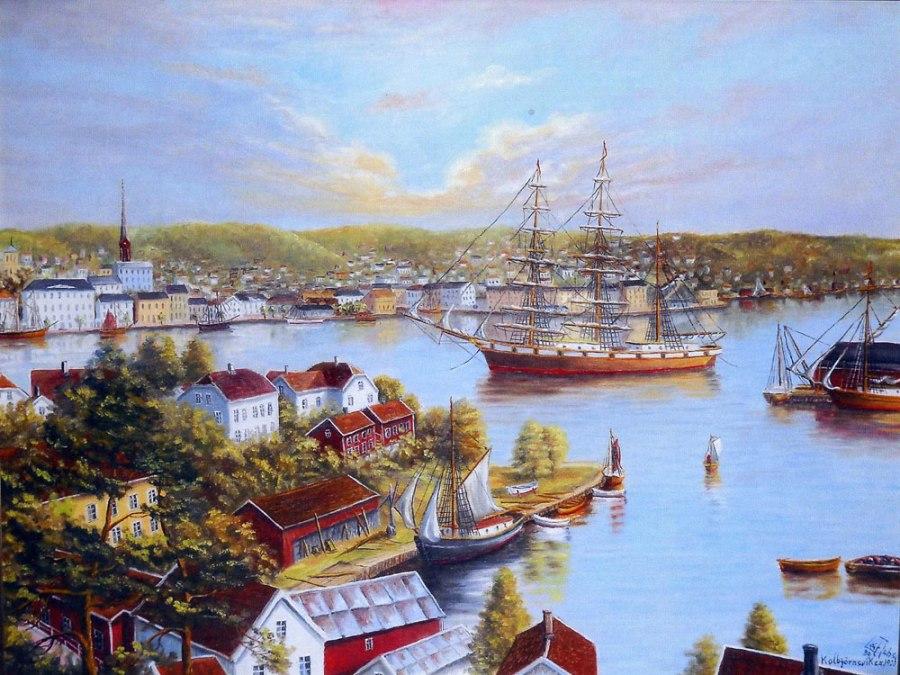 Kolbjørnsvik Malt av Leif Johannessen