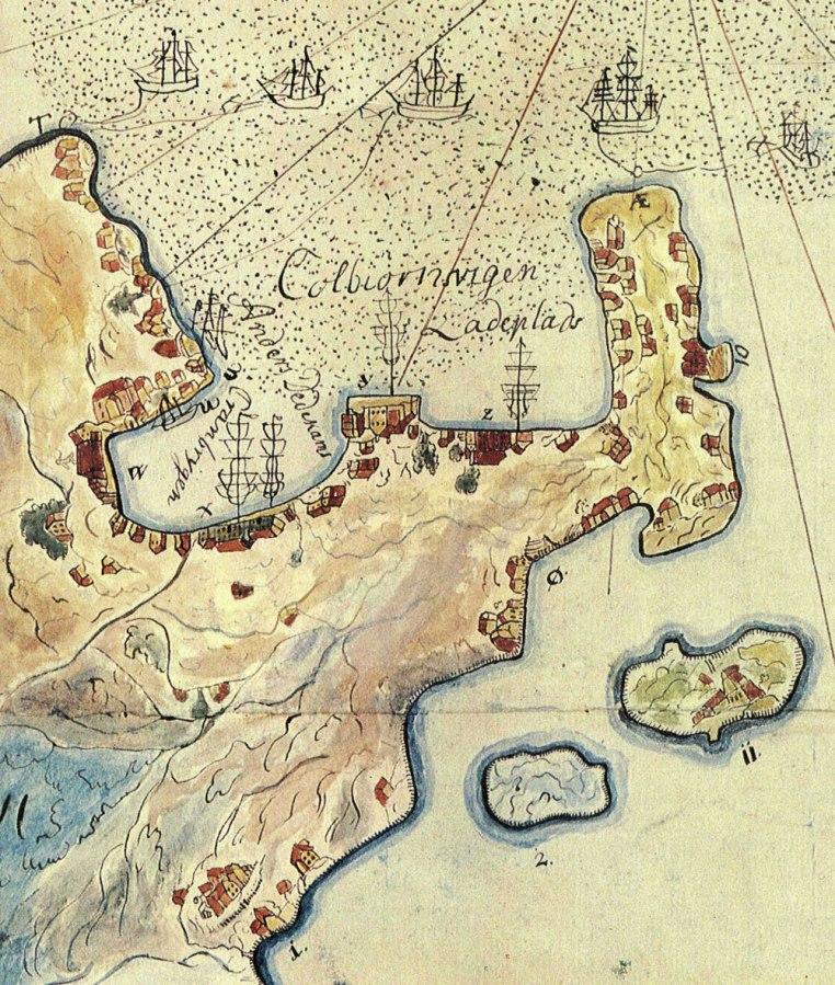 Kolbjørnsvig Kart fra 1757 Kuben